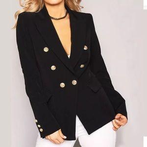 Brand New Gold Button High Fashion Blazer Sz. XL